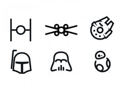 set of Star Wars minimal icons FD1033