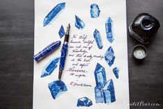Diamine Oxford Blue with a Monteverde Mountains of the World Denali: Monday Matchup #114