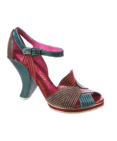 Take a look at this Green & Red Little Miss O Sandal by Irregular Choice.  Wish it didn't have buckles!
