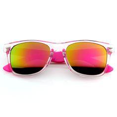 Retro Wayfarer Colorful Revo Mirror Lens Sunglasses 8609