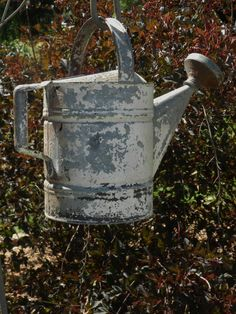Antique Chippy Galvanized Metal Watering Can