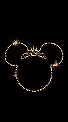Disney iPhone wallpaper/Minnie gold>