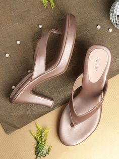 Buy Anouk Rose Gold-Toned Solid Heels online in India at best price.Toe Shape : Open Toe Occasion : Casual Number of Components : 2 Heel Height : 4 inches Heel Type : Platform Gold Ankle Strap Heels, Sparkly Wedding Shoes, Indian Shoes, Bridal Sandals, Fresh Shoes, Fashion Sandals, Pretty Shoes, Sexy High Heels, Leather Sandals