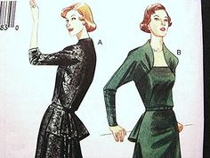 Retro 50s Vintage 1950 Vogue Model Misses Dress Pattern size 6 8 10 12 UNCUT by PatternsFromThePast