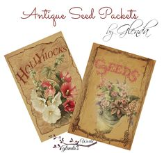 Antique Seed Packet Templates   Free-download