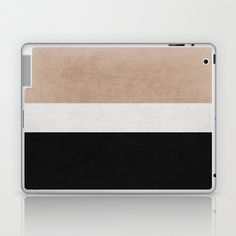 classic - natural, cream and black Laptop & iPad Skin by Her Art - $25.00