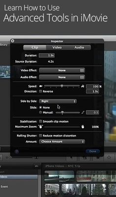 how to go forward in imovie