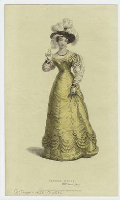 Dinner dress. (1825)