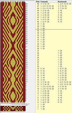 20 tarjetas, 2 colores, repite cada 36 movimientos // sed_376 diseñado en GTT༺❁ .