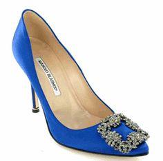 A beautiful, blue shoe