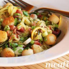 Zucchini Noodles with Scallops & Bacon {autoimmune paleo}