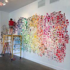 CHROMA installation by @lisasolomondotcom & christine buckton tillman at gallery ca in baltimore, maryland. opens 7/17/15.