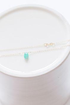 Floating Emerald Necklace — BROOKE WORTHINGTON JEWELRY