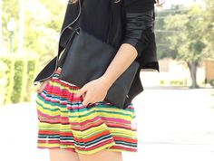 Neon-striped shorts from Nordstrom Rack.