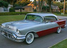 All American Classic Cars: 1956 Oldsmobile Super 88 4-Door Holiday Hardtop Sedan