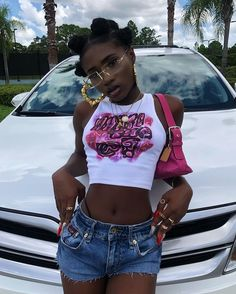 Cute Swag Outfits, Girl Outfits, Fashion Outfits, Black Girl Fashion, Look Fashion, Mode Hipster, Swag Girl Style, Pretty Girl Swag, Early 2000s Fashion