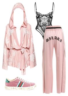"""""""Untitled #2820"""" by christabell-cxlvi ❤ liked on Polyvore featuring Puma, Dilara Findikoglu and Gucci"""