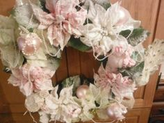 Holiday Christmas Winter Enchanted Shabby Wreath Chic Wedding Home Decor | eBay