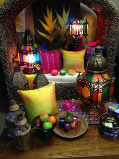18 Magical Moroccan Interior Designs for Your Inspiration Moroccan architecture and interior design express the country's diverse history through detail, texture and geometry. Check out this Moroccan interior design! Moroccan Room, Moroccan Home Decor, Moroccan Theme, Moroccan Lamp, Moroccan Lanterns, Moroccan Interiors, Moroccan Style, Bohemian Living, Bohemian Decor