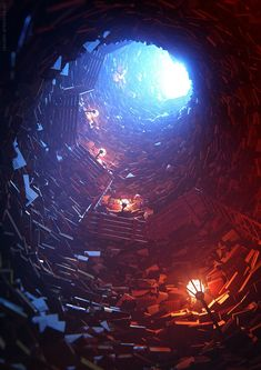 Cave of the forgotten Books by racoonart.deviantart.com on @deviantART
