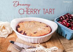 Are you ready for a sweet cherry sensation!? Today's NEW recipe is inspired by a traditional French dessert, the clafoutis (pronounced klah-foo-tee). Originating from the beautiful Limousin region, this wonderfully simple dish is made by baking cherries with a... #berries #cherry #cherrydessert