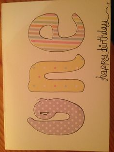 C-New: 1st birthday card