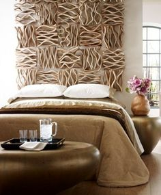 raw wood, bark organic wall sculptures. 2015 Interior Styling Trends | Luxe Home Philadelphia