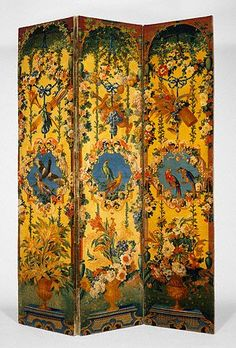 Pair of Three-Panel Screens (paravents) Savonnerie Manufactory; with designs by Alexandre-François Desportes, painter; and Jean-Baptiste Belin de Fontenay, painter French, Savonnerie, about 1714 - 1740