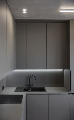 Laminate kitchen cabinets - 50 meters of grey – Laminate kitchen cabinets Kitchen Room Design, Kitchen Cabinet Design, Modern Kitchen Design, Home Decor Kitchen, Kitchen Interior, Laminate Cabinets, Laminate Counter, Kitchen Cabinets Laminate, Küchen Design