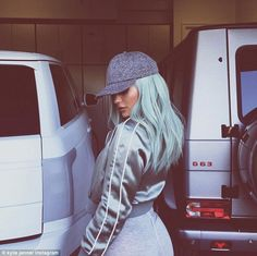 Style chameleon: Kylie Jenner was back to blue on Friday as she shared some new images to her Instagram account