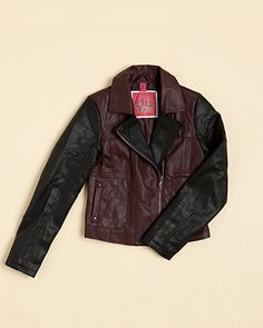 Some of you have to get in on this: Collection B Girls' Wineberry Moto Jacket (7-16)