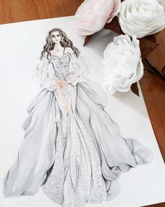 GALIA LAHAV WEDDING DRESS COLLECTION 2018 #illustration #fashionillustrated #fashionillustration #illustrations #illustrator #illustrators #art #artist #artwork #trendy #sketch #sketching #sketches #bridal #bridaldream #wedding #arronlamaluan