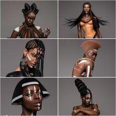 Tribal Images, Futurism Art, Avant Garde Hair, Art Africain, Muse Art, Africa Art, African Tribes, Fantasy Hair, Afro Punk