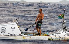 South African completes epic 93 days unaccompanied transatlantic 'Stand Up Paddle' crossing