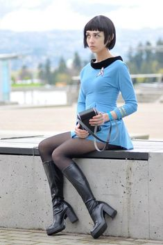 So, if you are going to a cosplay and it is your first time to attend one, how do you figure out what costume you are going to wear? First of all, you need to find out what kind of cosplay it is going to be. Spock, Star Trek Rpg, Star Trek Uniforms, Star Trek Cosplay, Star Trek Characters, Star Trek Universe, Cultura Pop, Best Cosplay, Cosplay Girls