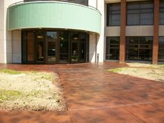 Stained Concrete is also a great option for commercial spaces in Las Vegas, Nevada. Concrete Staining, Stained Concrete, Nevada, Las Vegas, Living Spaces, Garage Doors, Commercial, Outdoor Decor, Home Decor