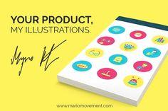 Nerd icon set design by MarioMovement on @creativemarket