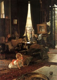 Hide and Seek by James Jacques Joseph Tissot, ca. 1880-1882