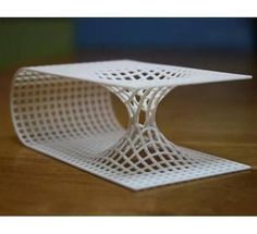 At Shapeways we pride ourselves on having the most high quality materials available for printing. One of our popular and readily available materials is our white, strong and flexible plastic (WSF) which is laser sintered nylon plastic in a variety of c Parametric Architecture, Parametric Design, Concept Architecture, Architecture Design, Architecture Diagrams, Architecture Portfolio, Folding Architecture, Maquette Architecture, Online Architecture