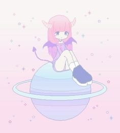 Image about pink in kawaii by kpleit_heart on We Heart It Pixel Art Kawaii, Arte Do Kawaii, Kawaii Art, Kawaii Anime Girl, Lolis Anime, Anime Art, Aesthetic Anime, Aesthetic Art, Character Art