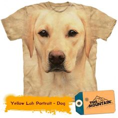 Dog Yellow Lab Labrador Big Face Puppy Animal T-Shirt Mountain Cotton Sizes Labrador Retrievers, Zebras, T Shirt Chien, 3d Foto, Homeless Dogs, I Love Dogs, Big Dogs, Dogs And Puppies, Gatos