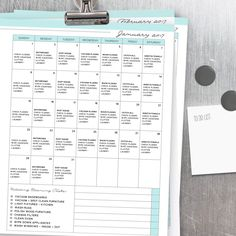 Looking for the ideal 2017 calendar? This is it! Prefilled, blank and editable- perfect for your planning needs!