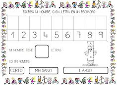 Todos los días en la asamblea, el encargado de las letras, pone las letras de su nombre en cada recuadro numerado y luego lo escribe. Así q...