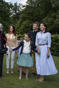 The Royal Family of Denmark celebrate the coming gold wedding anniversary of Queen Margrethe and Prince Henrik at Fredensborg Castle on 5 June 2017