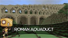 Here I attempt to construct a Roman Aqueduct, or as closely to one as I could manage inside Minecraft. Roman Architecture, Minecraft Architecture, Minecraft Designs, Minecraft Ideas, Minecraft Construction, Ancient Rome, Let It Be, Adventurer, Building Ideas