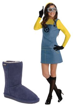 """Emma is a Minion for Halloween"" by bearpawstyle on Polyvore featuring Rubie's Costume Co."