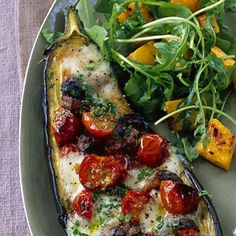 Baked stuffed aubergines recipe I Vegetarian recipes