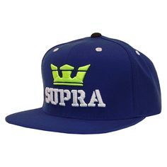 sports shoes 882e9 f7611 Supra Above casquette ajustable Starter snapback royal blue lime yellow.  Nice Caps ...