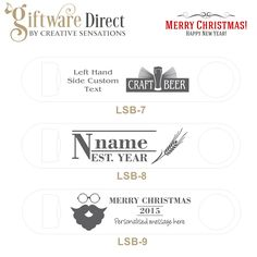 christmas personalised engraved stainless steel larger bottle opener