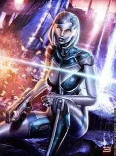 EDI: UNSHACKLED A.I. - Mass Effect 3 by Eddy-Shinjuku on deviantART